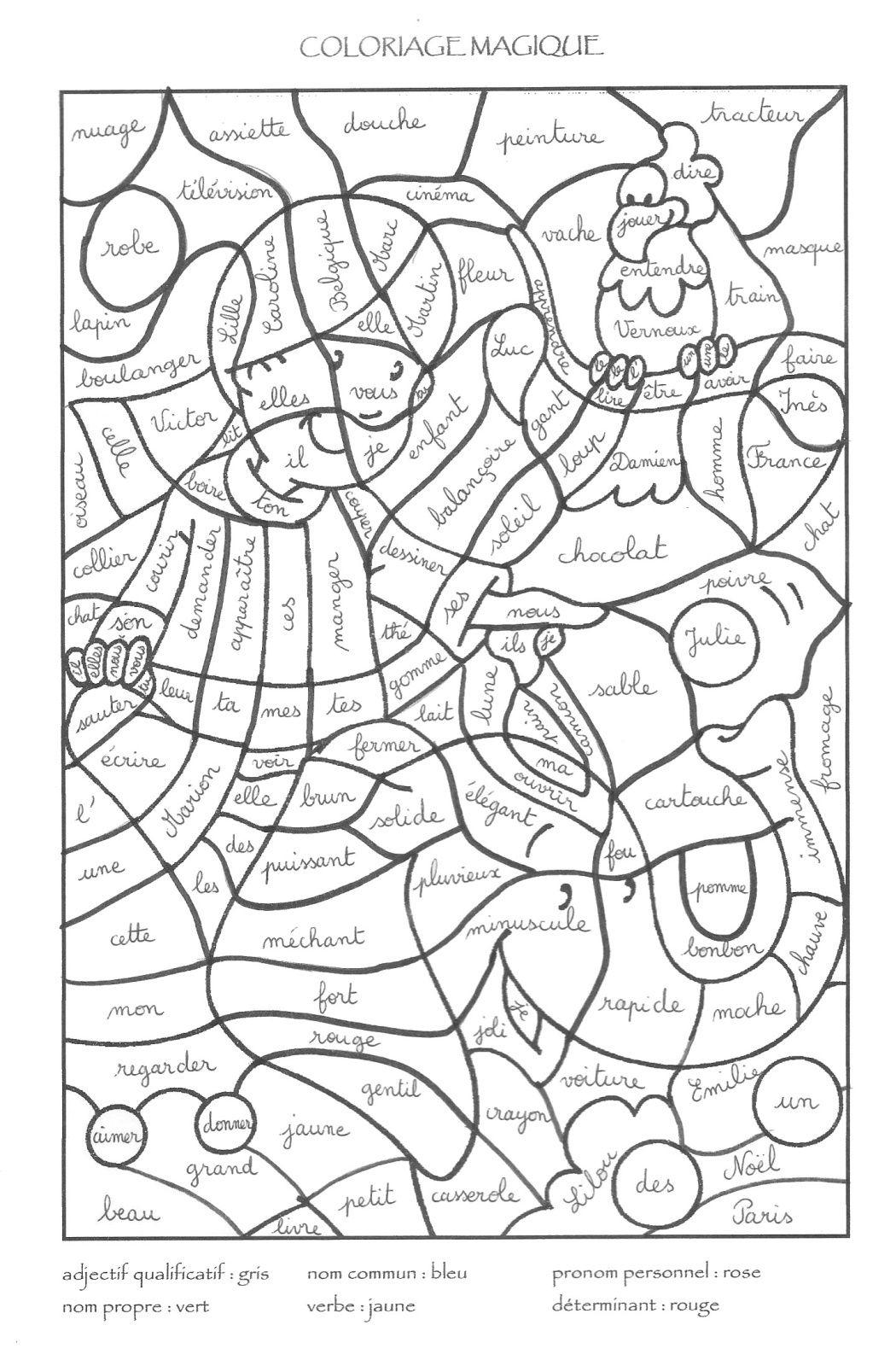 """Coloriage Magique: La Nature Des Mots """"L'Indienne dedans Coloriage Magique Multiplication Ce2 À Imprimer"""