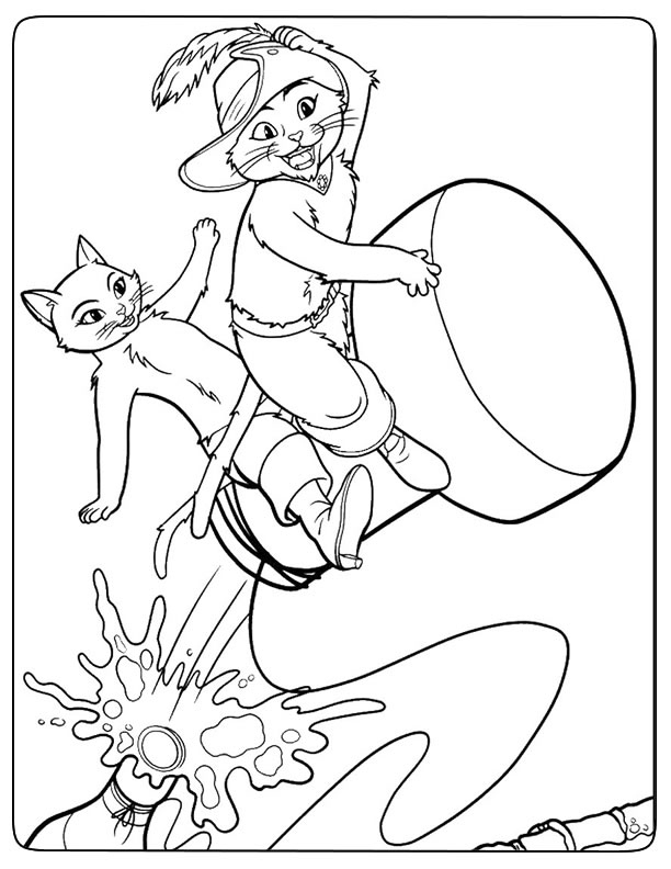 Coloriage Magique Le Chat Botte - Ohbq à Dessin Du Chat Botté