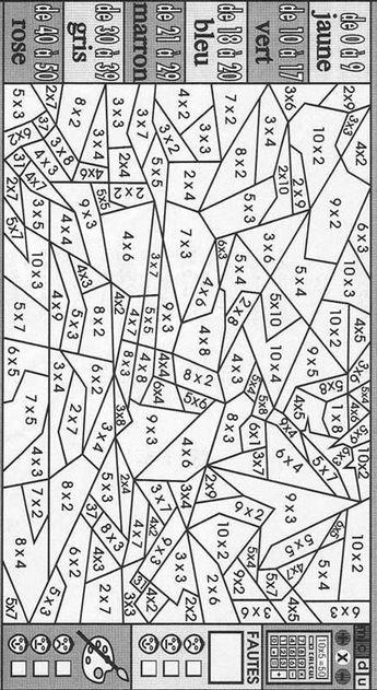 Coloriage Magique : Les Tables De Multiplication destiné Coloriage Magique Multiplication Ce2 À Imprimer