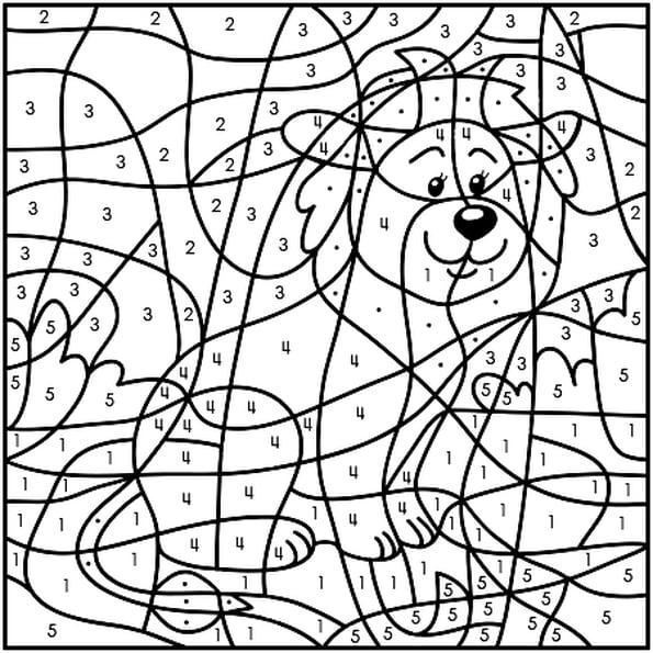 Coloriage Magique Lion En Ligne Gratuit À Imprimer pour Coloriage À Chiffre A Imprimer