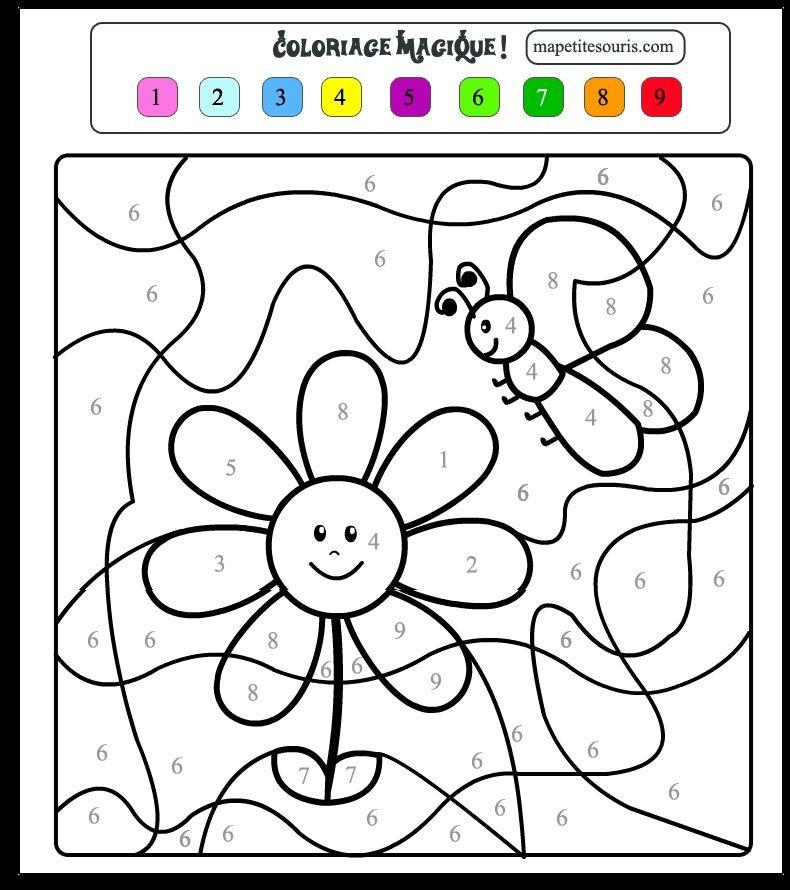Coloriage Magique Maternelle Grande Section A Imprimer tout Coloriage Numéroté Maternelle