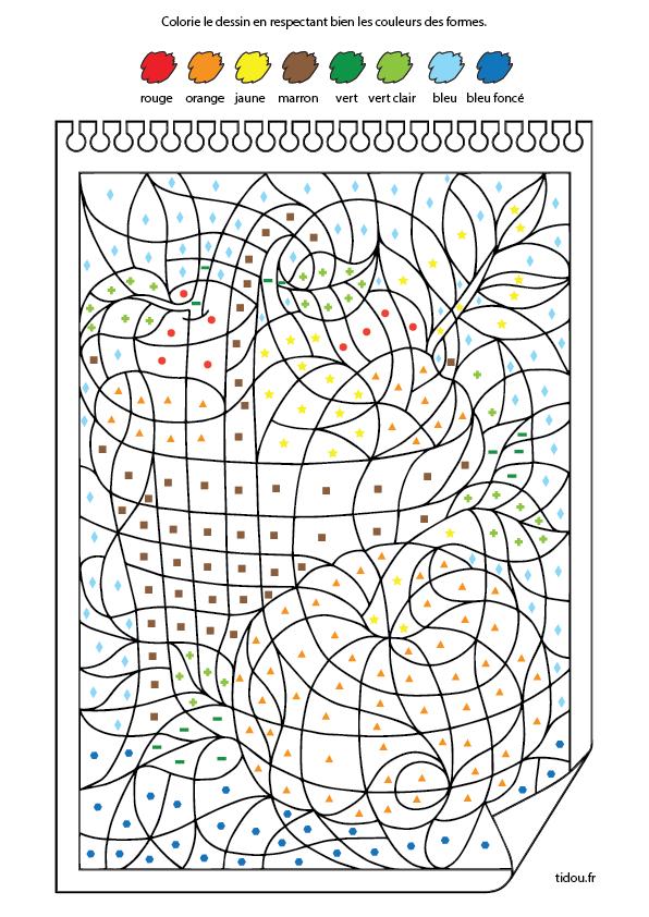 Coloriage Magique, Maternelle Petite Section - Tidou.fr serapportantà Coloriage À Chiffre A Imprimer