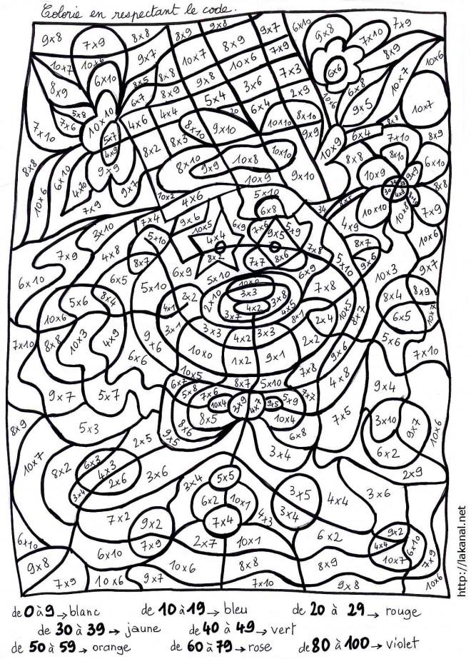 Coloriage Magique Mathématique Dessin Gratuit À Imprimer serapportantà Coloriage Magique Multiplication Ce2 À Imprimer