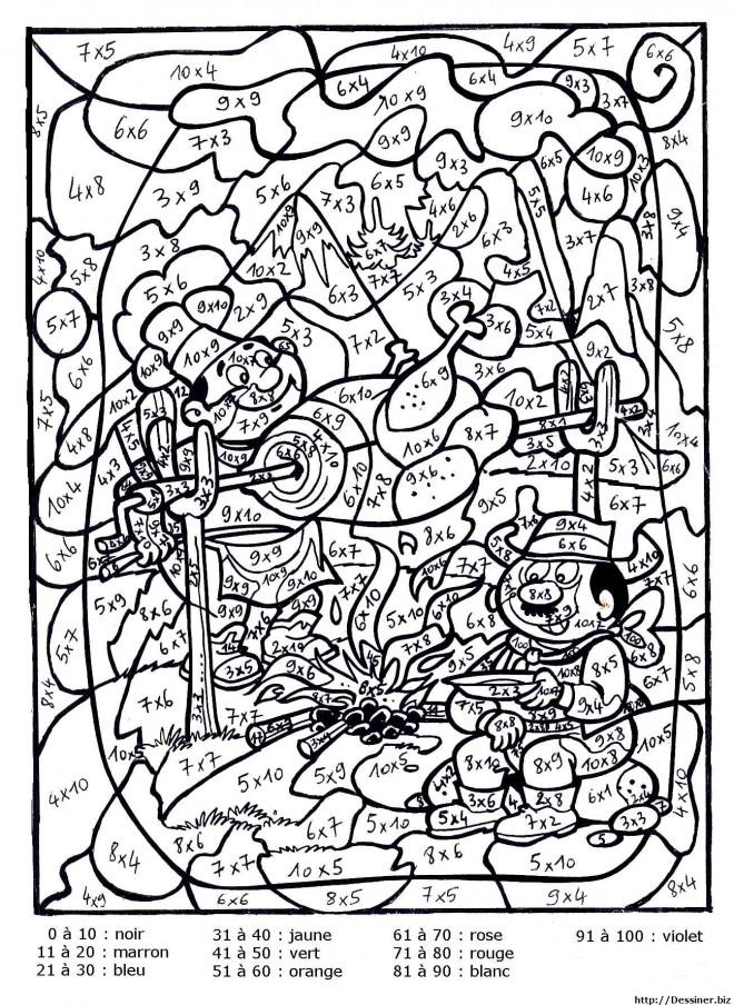 Coloriage Magique Multiplication Dessin Gratuit À Imprimer intérieur Coloriage Magique À Imprimer Gratuit
