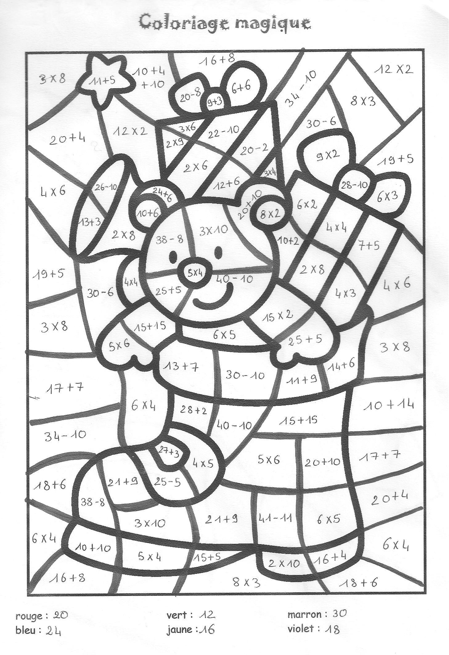 Coloriage Magique Multiplication Pour Cm2 pour Coloriage Magique Multiplication Ce2 À Imprimer
