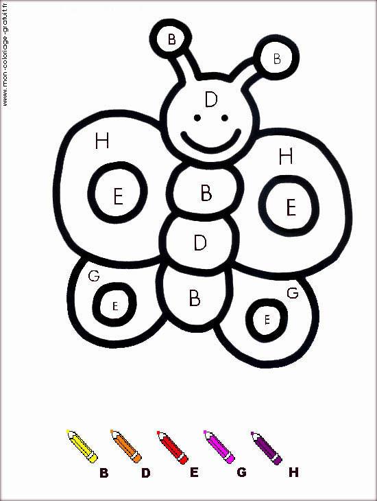 Coloriage Magique Papillon - Mon Coloriage En Ligne Gratuit pour Coloriage Magique Addition Maternelle