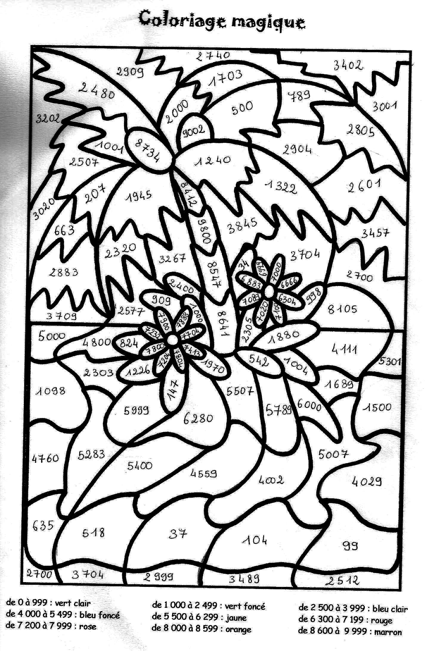 Coloriage Magique Paques Multiplication dedans Coloriage Magique Paques Imprimer