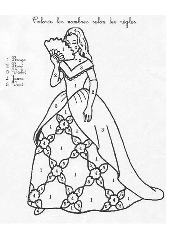 Coloriage Magique Princesse Facile Dessin Gratuit À Imprimer intérieur Coloriage De Violetta À Imprimer