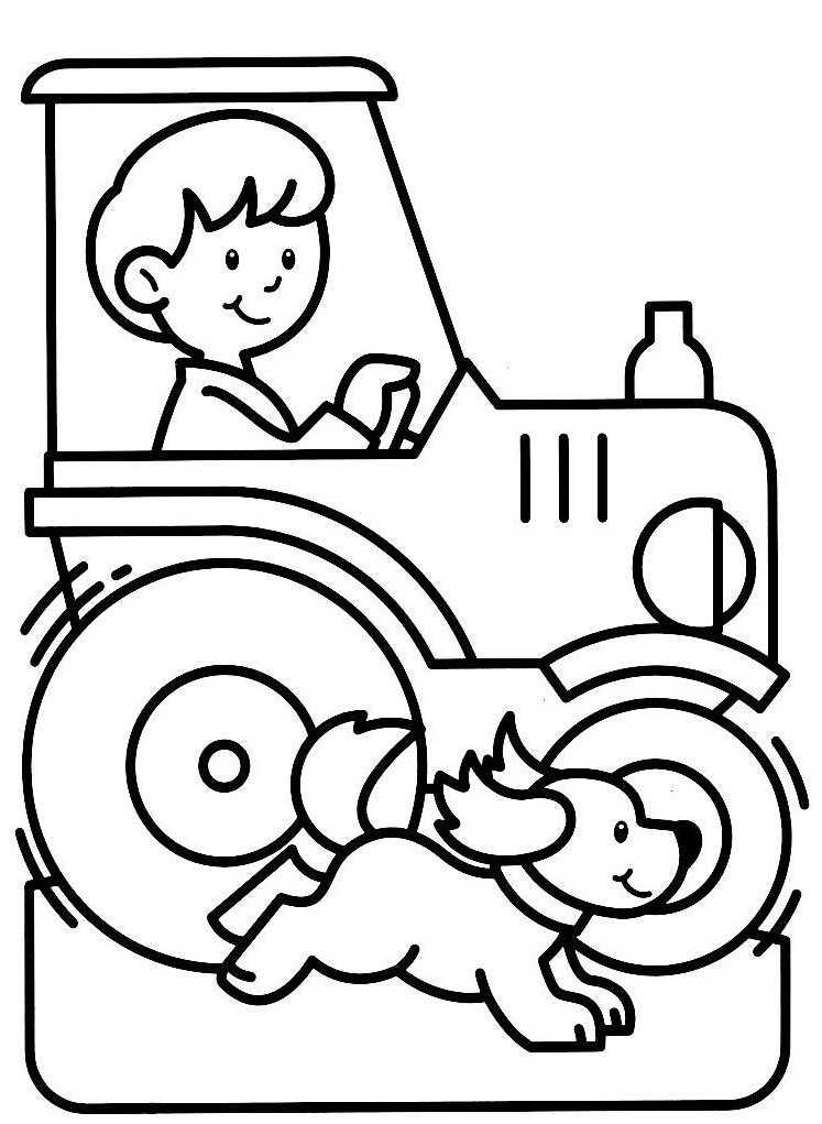 Coloriage Magique Tracteur intérieur Dessin De Tracteur A Colorier