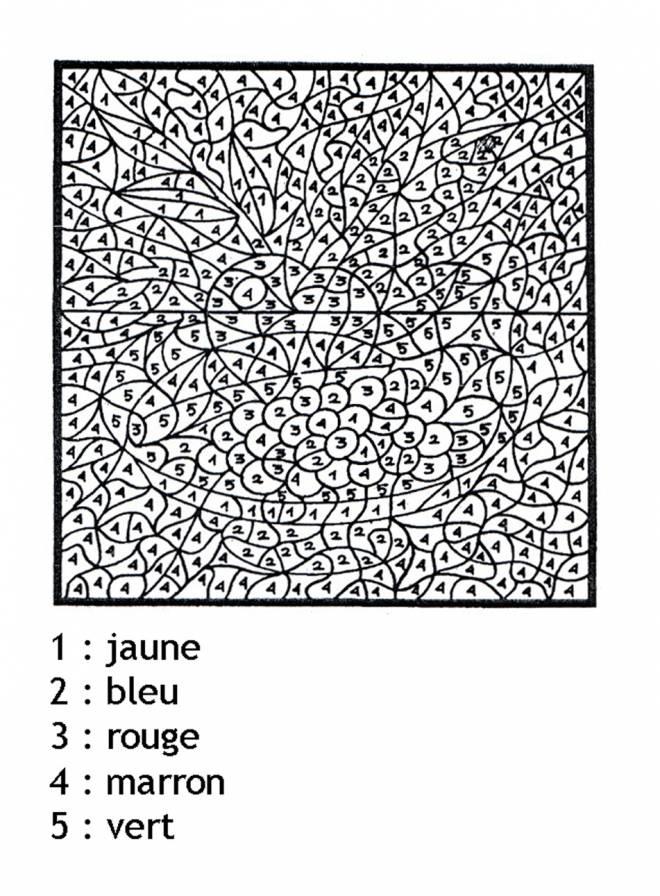 Coloriage Magique Très Difficile Dessin Gratuit À Imprimer intérieur Coloriage Avec Chiffre A Imprimer