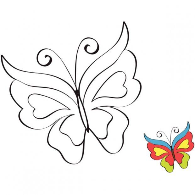 Coloriage Magnifique Papillon Gratuit À Imprimer Liste 20 À 40 tout Coloriage Avec Modèle À Imprimer