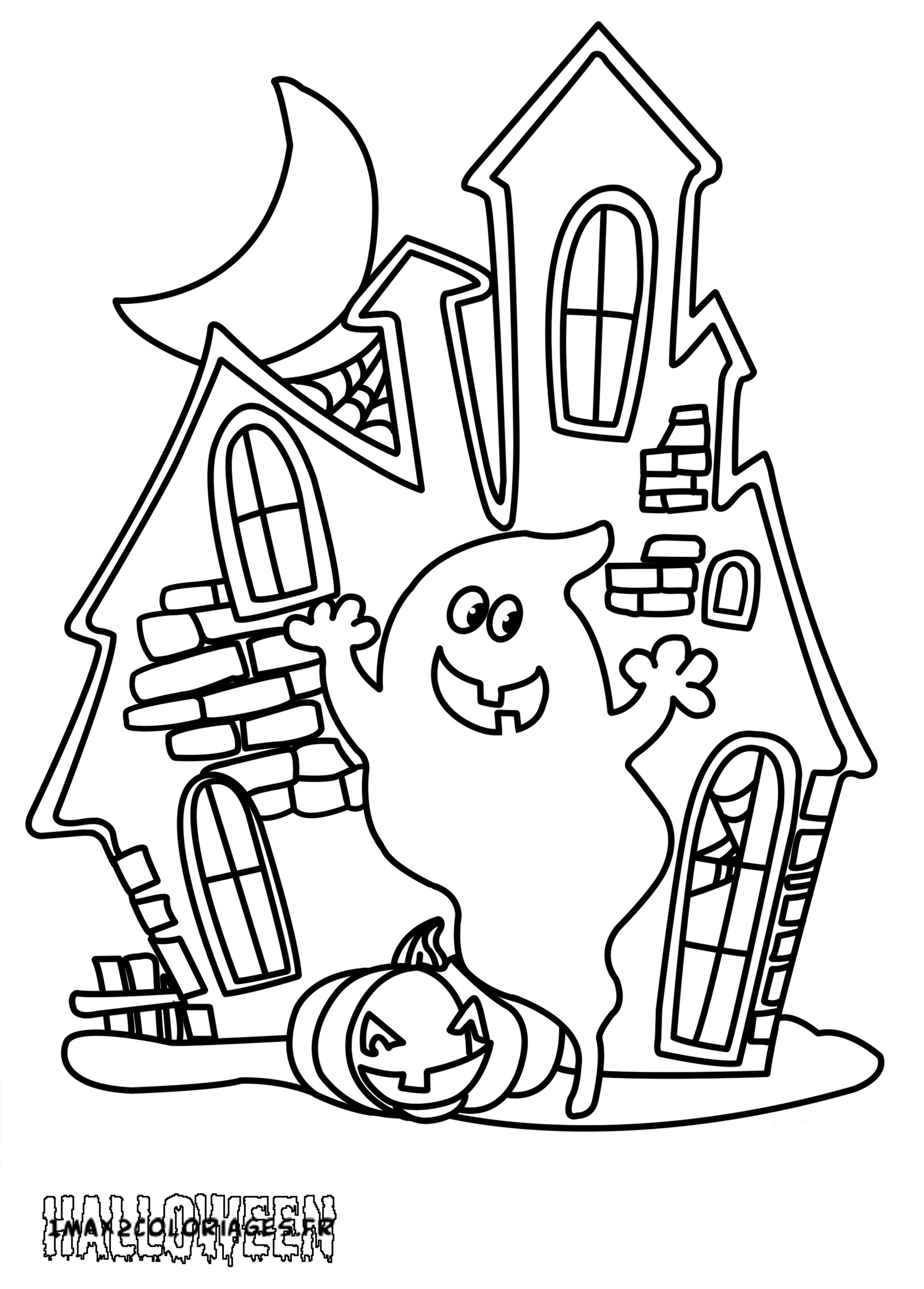 Coloriage Maison Hantée À Imprimer intérieur Dessin De Petite Maison