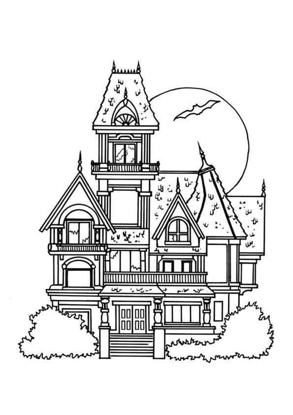 Coloriage Maison Manoir (Avec Images) | Maison Dessin pour Dessin Maison Facile