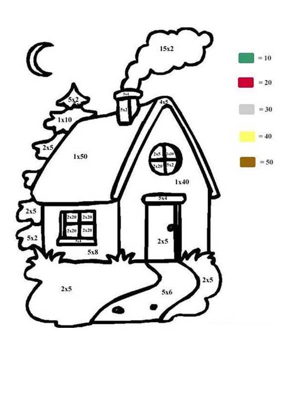Coloriage Maison Numéroté Facile Dessin Gratuit À Imprimer à Dessin De Maison Facile
