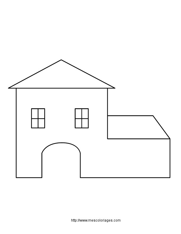 Coloriage Maison Simple En Ligne Dessin Gratuit À Imprimer intérieur Dessin Maison Facile