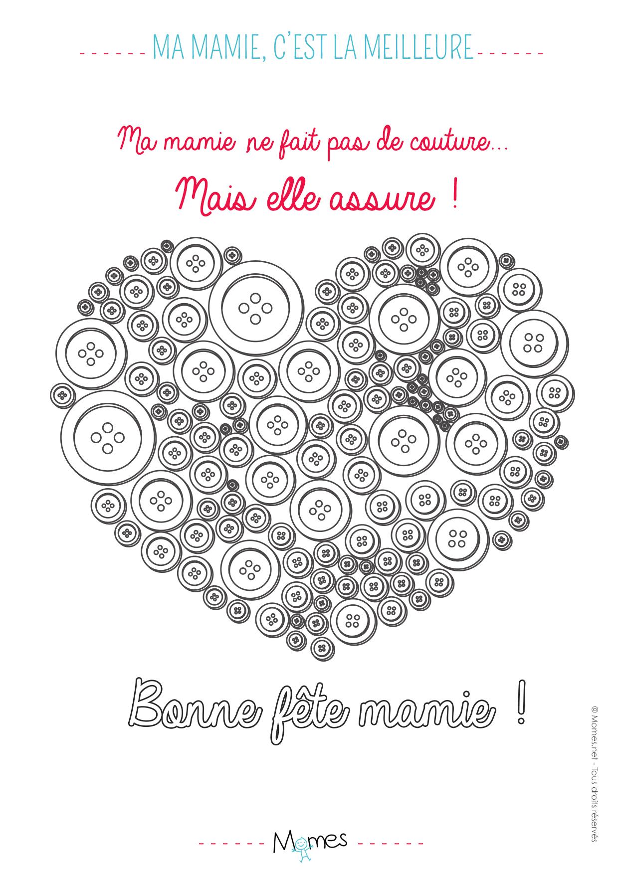 Coloriage Mamie C'Est La Meilleure #Couture - Momes dedans Coloriage De Fête Des Mères À Imprimer
