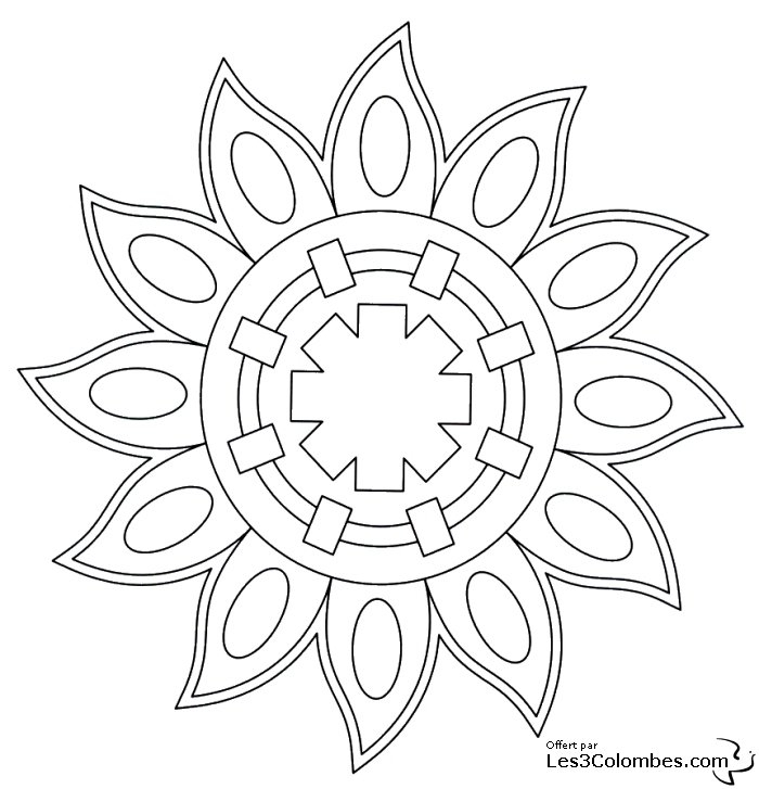 Coloriage Mandala 42 - Coloriage En Ligne Gratuit Pour Enfant dedans Coloriage En Ligne Pour Enfant
