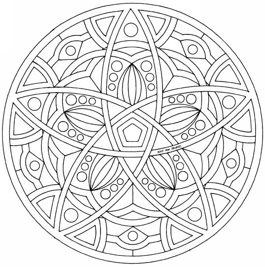 Coloriage Mandala À Colorier - Dessin À Imprimer à Mandala A Dessiner