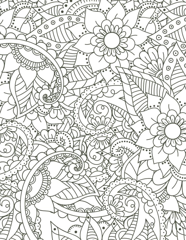 Coloriage Mandala À Imprimer Motif Fleurs Pour Adulte à Coloriage Fleur