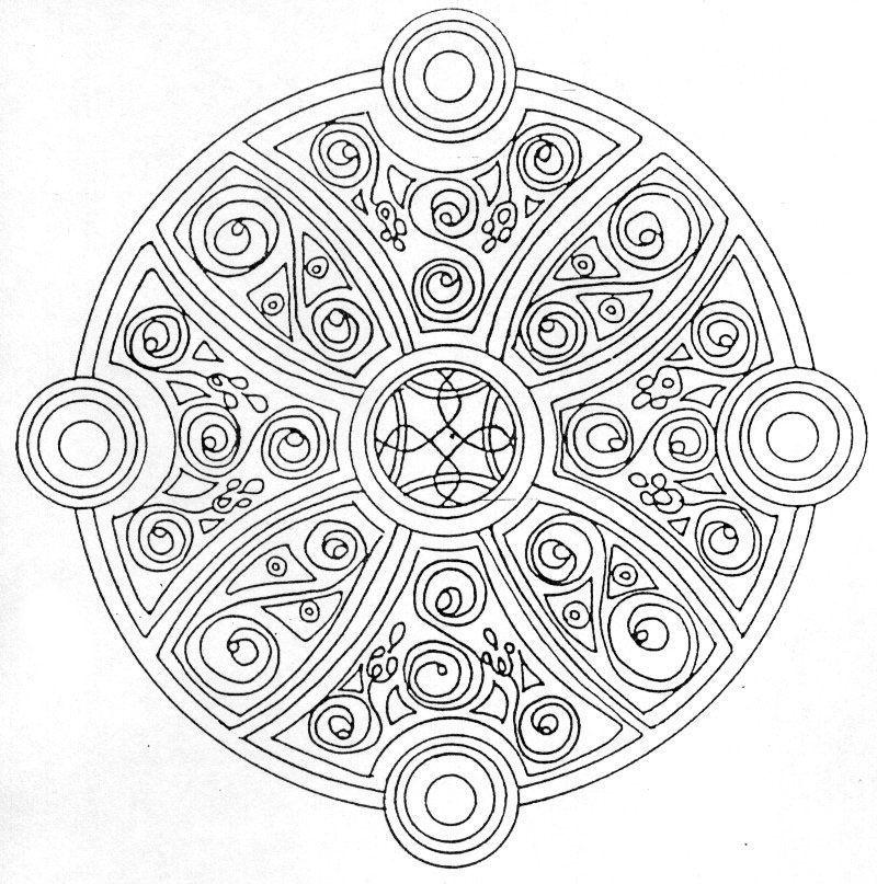 Coloriage Mandala À Imprimer tout Coloriage Mandale