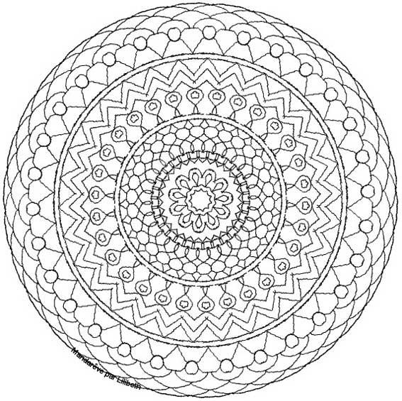 Coloriage Mandala Adulte À Colorier Dessin Gratuit À Imprimer pour Dessin Tres Dur