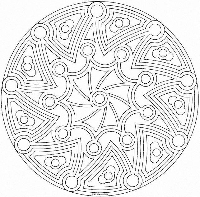 Coloriage Mandala Artistique En Ligne Dessin Gratuit À à Mandala À Colorier En Ligne