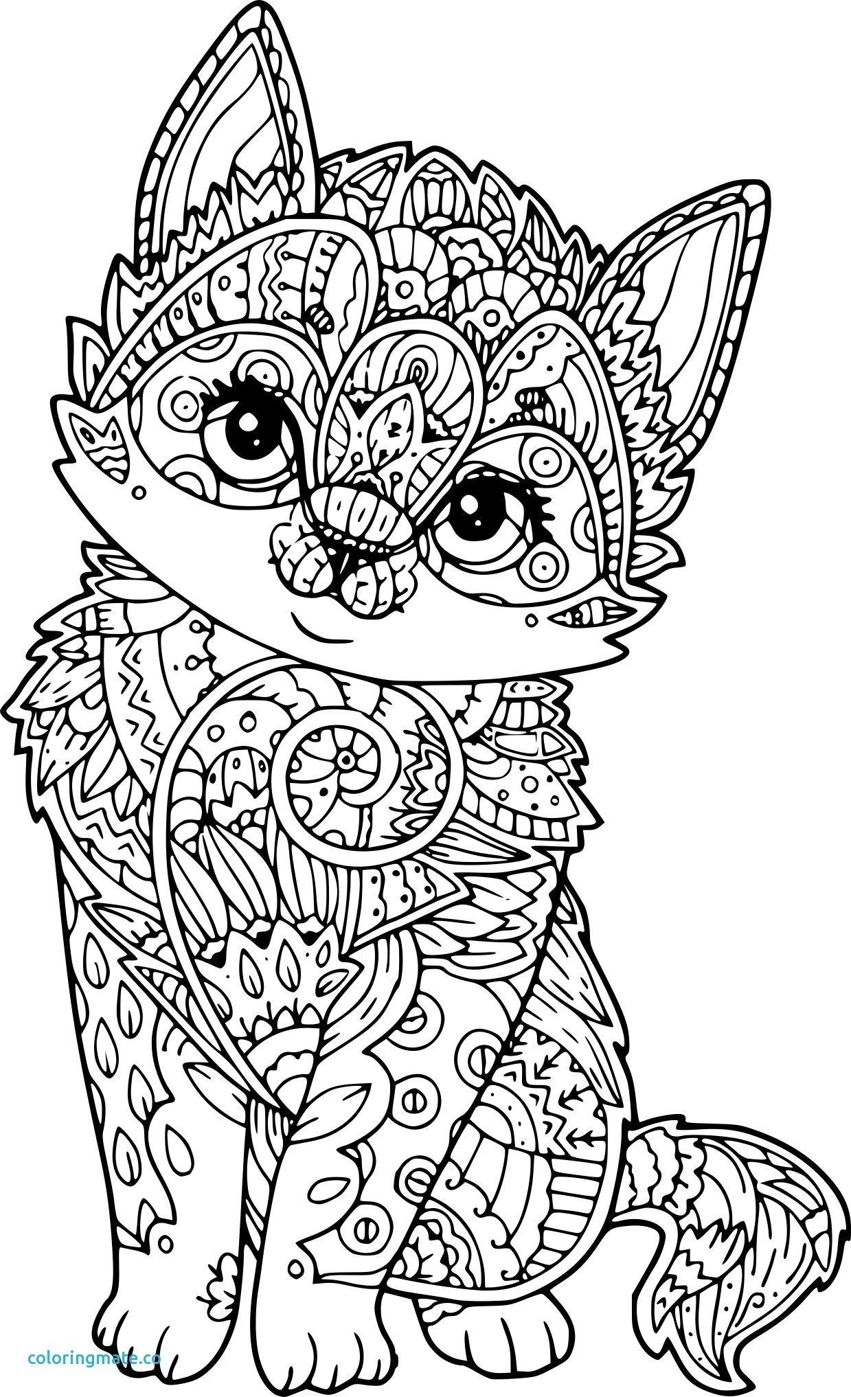 Coloriage Mandala Chat Papillon Fresh Coloriage Chat concernant Coloriage Mandala Adulte