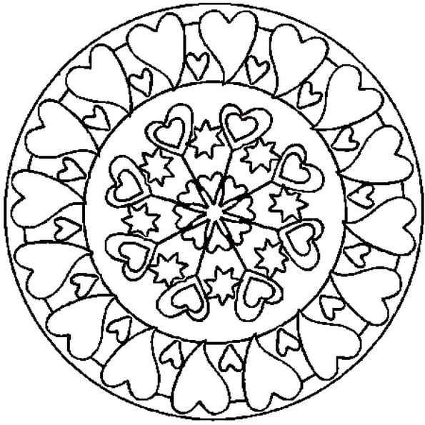 Coloriage Mandala Coeur En Ligne Gratuit À Imprimer intérieur Imprimer Coloriage Mandala