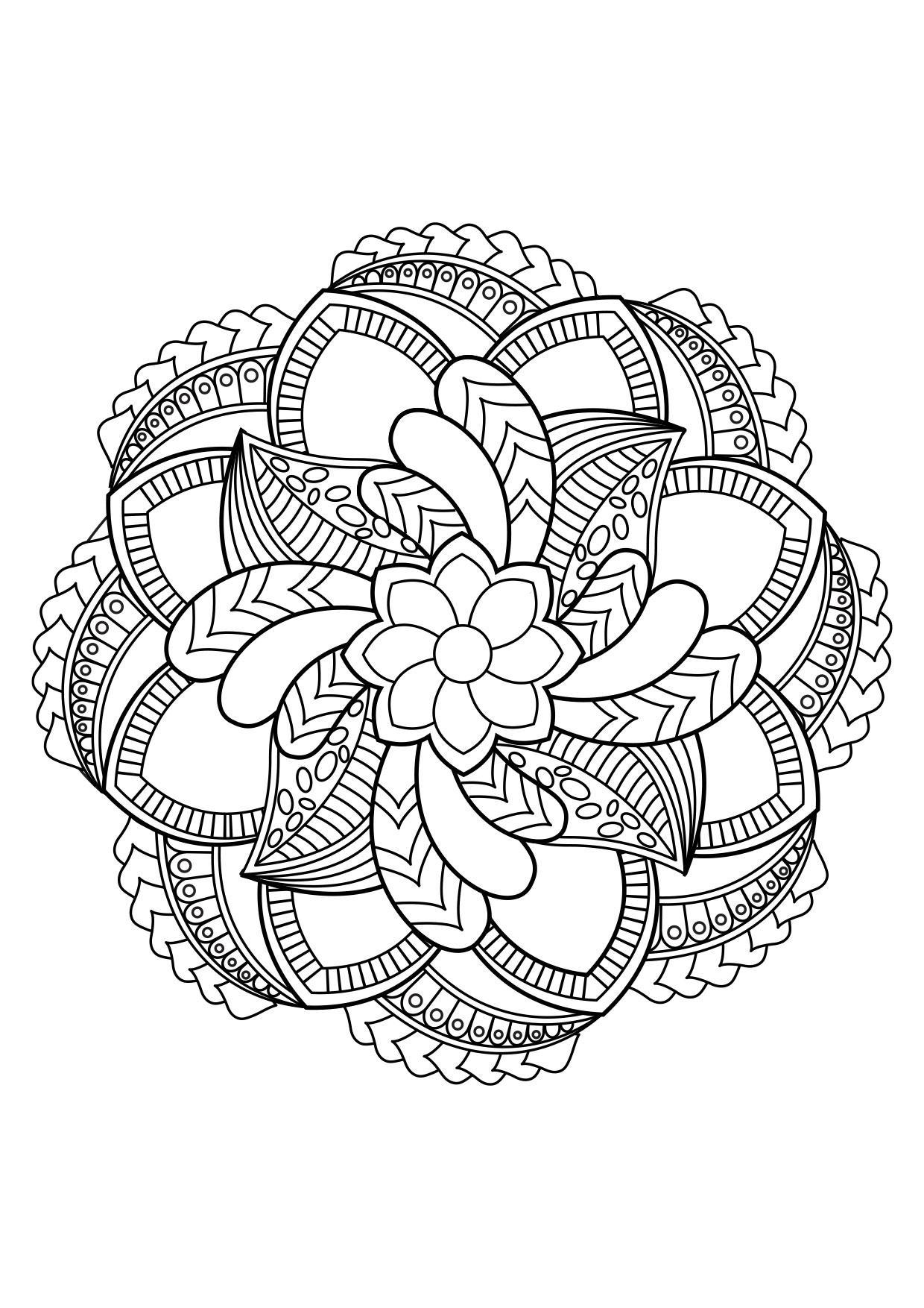 Coloriage Mandala - Coloriages Gratuits À Imprimer destiné Mandala Coloriage