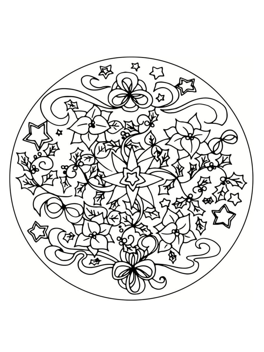 Coloriage Mandala De Noël : 30 Dessins À Imprimer serapportantà Mandala A Dessiner