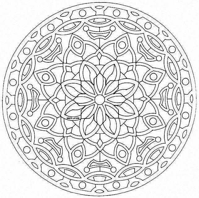 Coloriage Mandala Difficile A Imprimer - Ancenscp tout Coloriage De Mandala Difficile A Imprimer