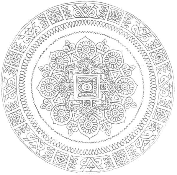 Coloriage Mandala Difficile Indien Dessin Gratuit À Imprimer avec Dessin Tres Dur