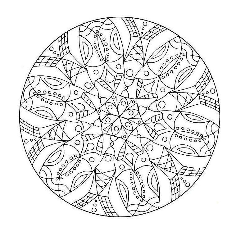 Coloriage Mandala Difficile -- This Is An Amazing Site à Imprimer Coloriage Mandala