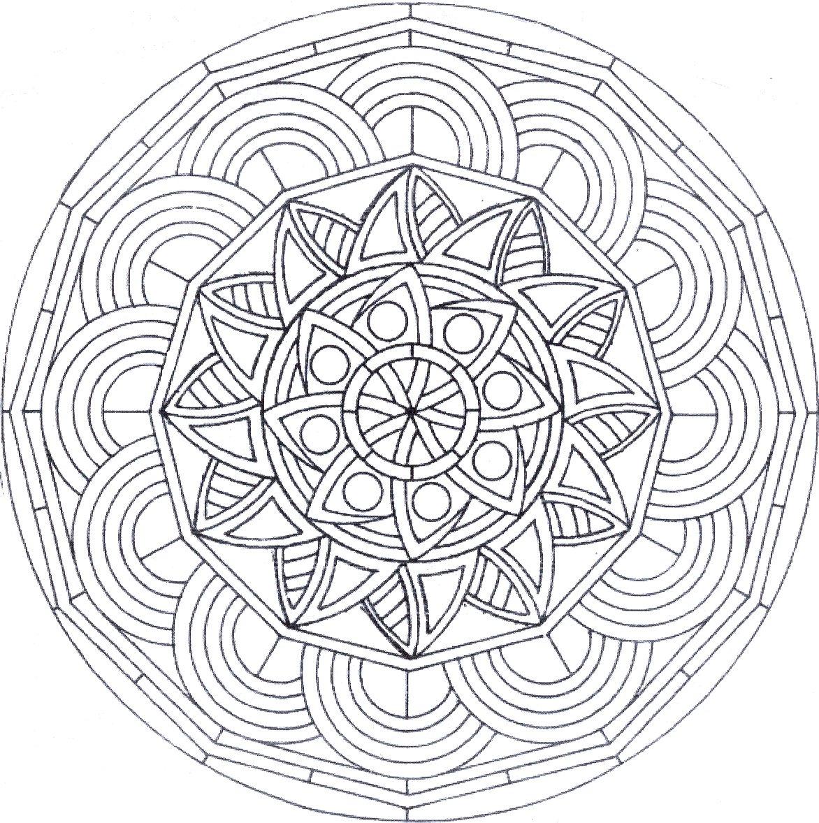 Coloriage Mandala Dur concernant Dessin Tres Dur