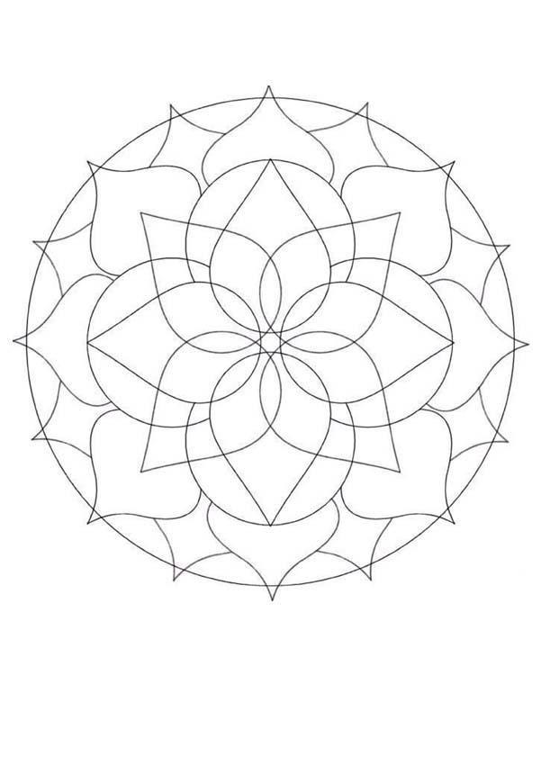 Coloriage-Mandala-En-Ligne-48 - Dessin De Mandala serapportantà Mandala À Colorier En Ligne