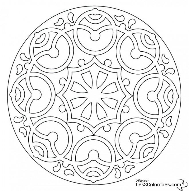 Coloriage Mandala En Ligne À Télécharger à Coloriage Rosace À Imprimer Gratuit