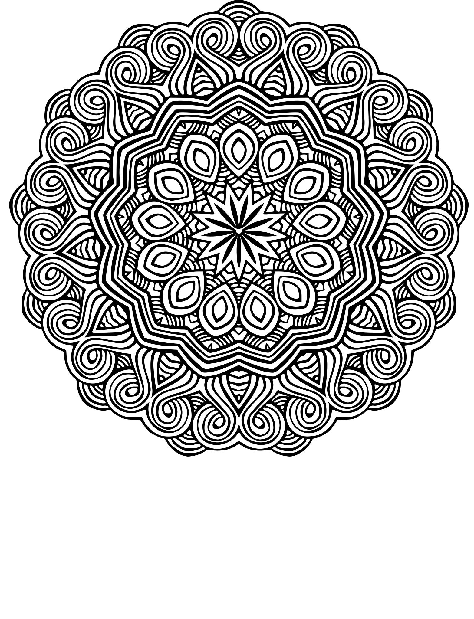 Coloriage Mandala Ethnique À Imprimer à Coloriage Mandala