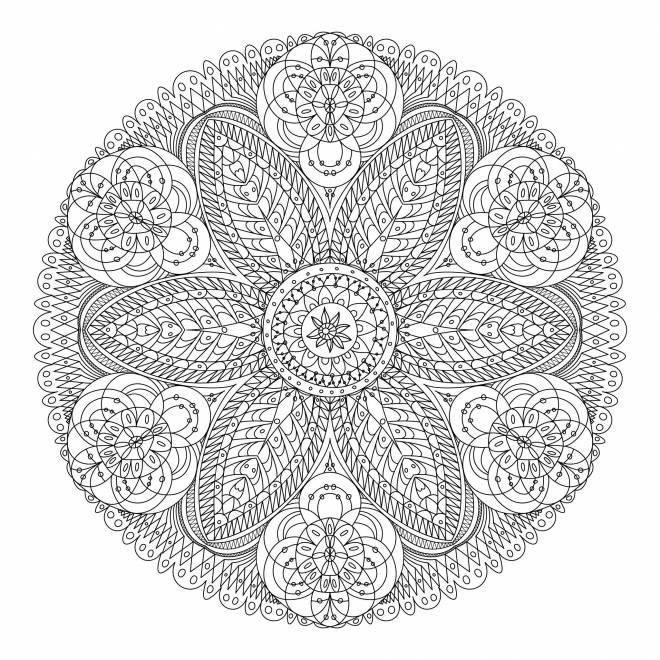Coloriage Mandala Fleur Adulte Anti-Stress Dessin Gratuit concernant Coloriage Mandala Anti Stress