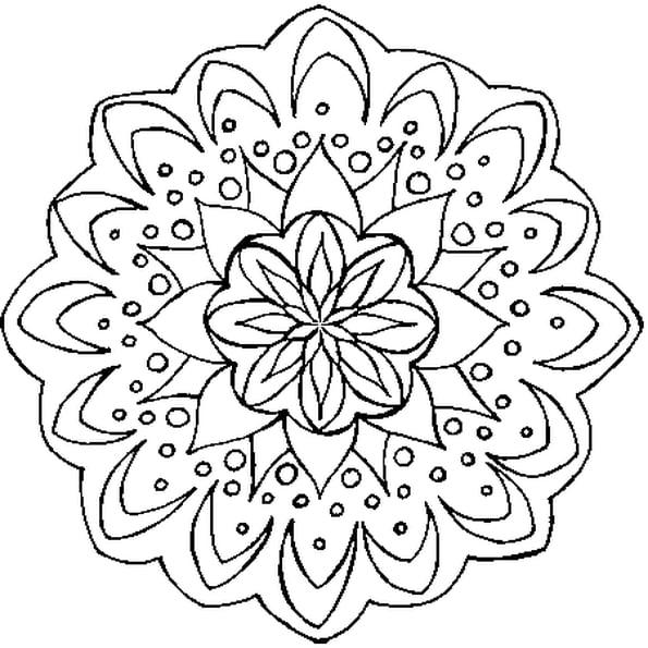 Coloriage Mandala Fleur En Ligne Gratuit À Imprimer à Mandala À Colorier En Ligne