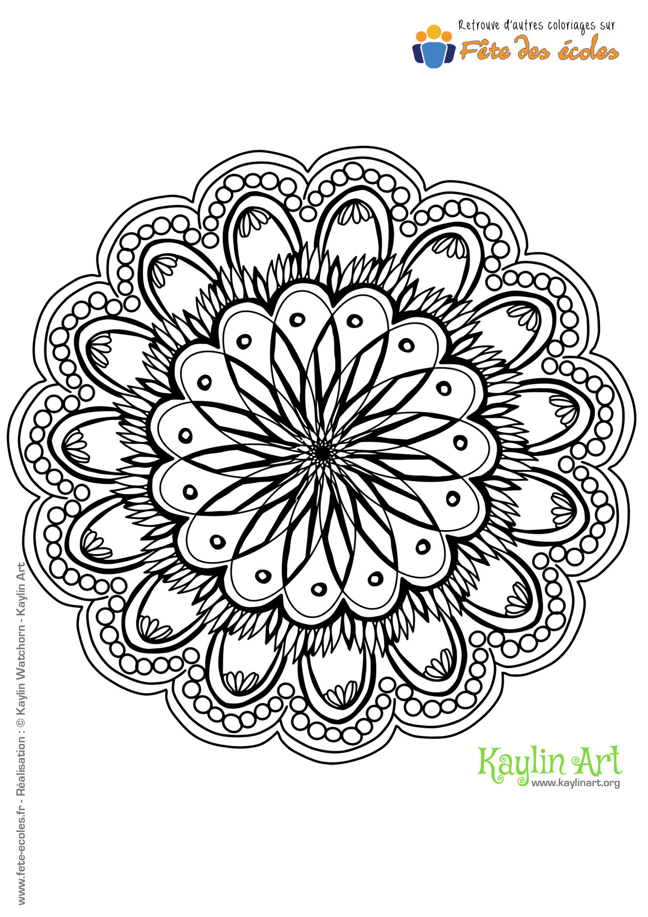 Coloriage Mandala Fleur encequiconcerne Dessin Rosace Fleur