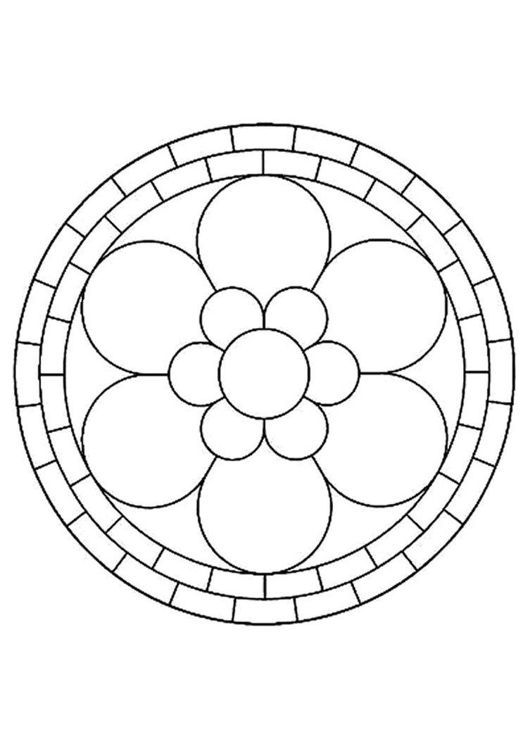Coloriage Mandala Fleur | Mandala Coloring, Mandala avec Mandala Facile A Dessiner