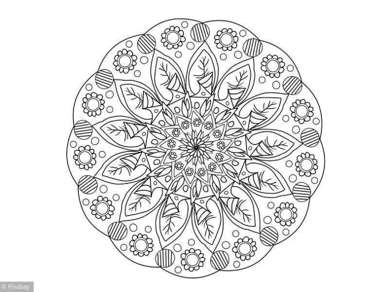 Coloriage Mandala Fleuri - Loisirs - Notre Temps avec Coloriage Mandale
