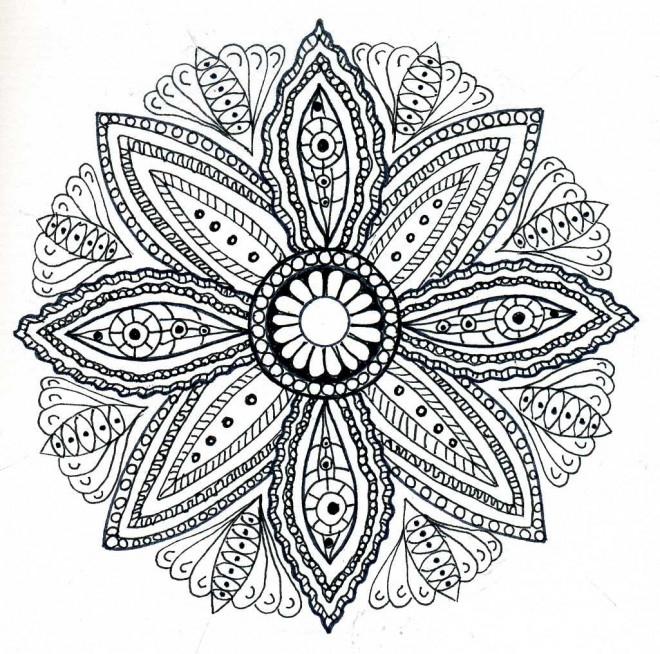 Coloriage Mandala Fleurs Adulte Dessin Dessin Gratuit À à Coloriage Rosace À Imprimer Gratuit