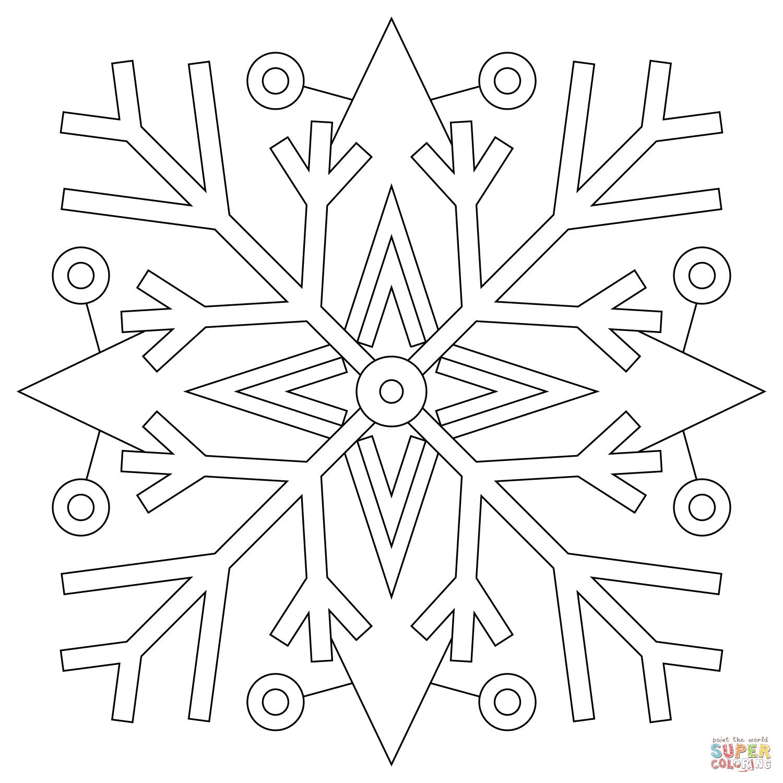 Coloriage - Mandala Flocons De Neige | Coloriages À pour Flocon À Colorier