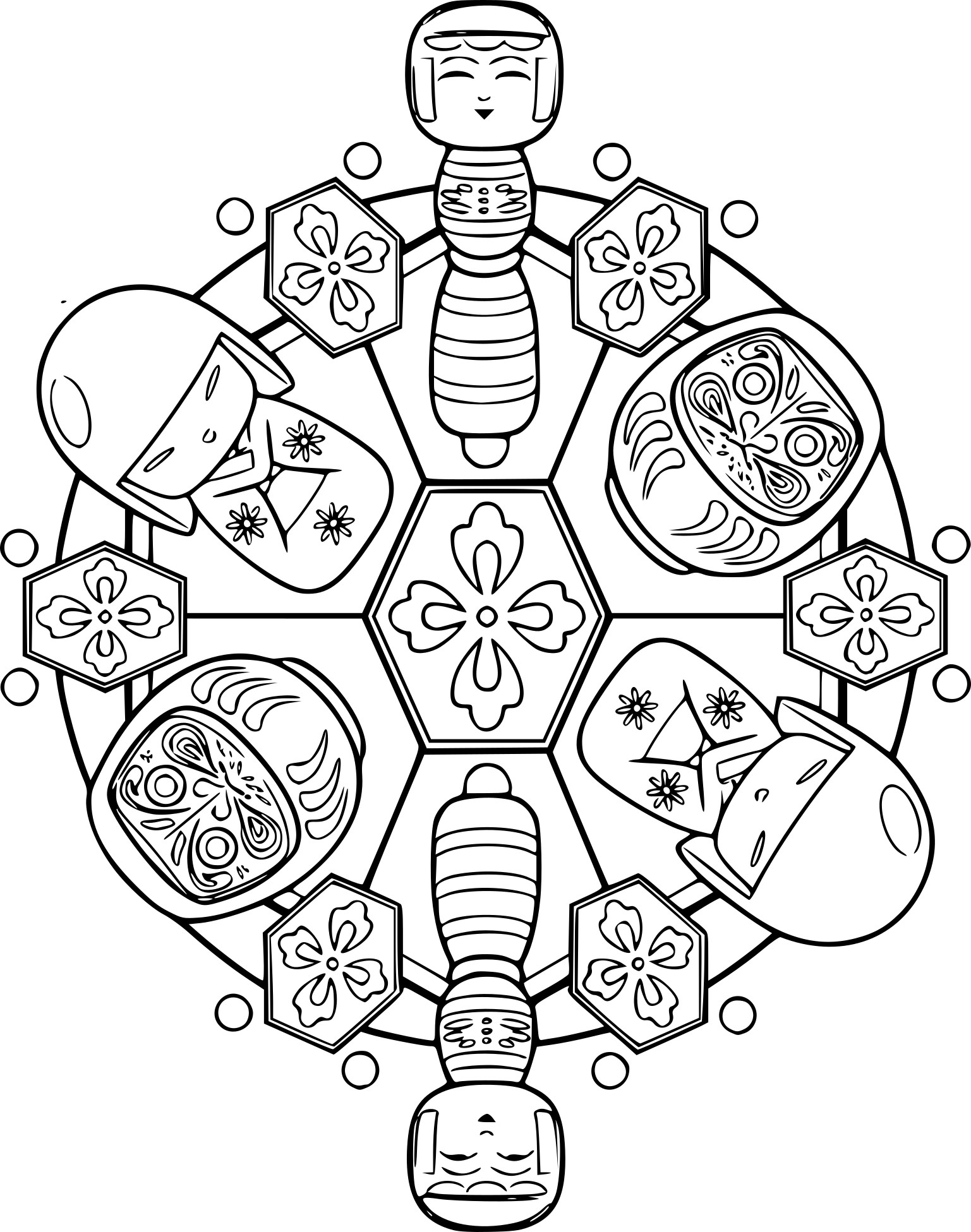 Coloriage Mandala Japon À Imprimer tout Coloriage Mandala A Imprimer