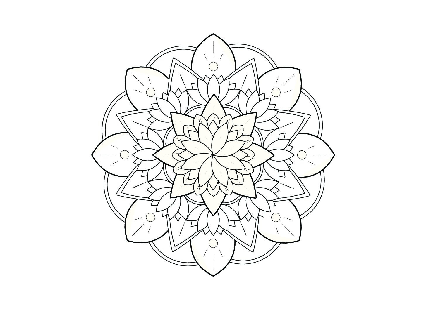 Coloriage Mandala Let S Play On The Moon tout Mandala Colorié
