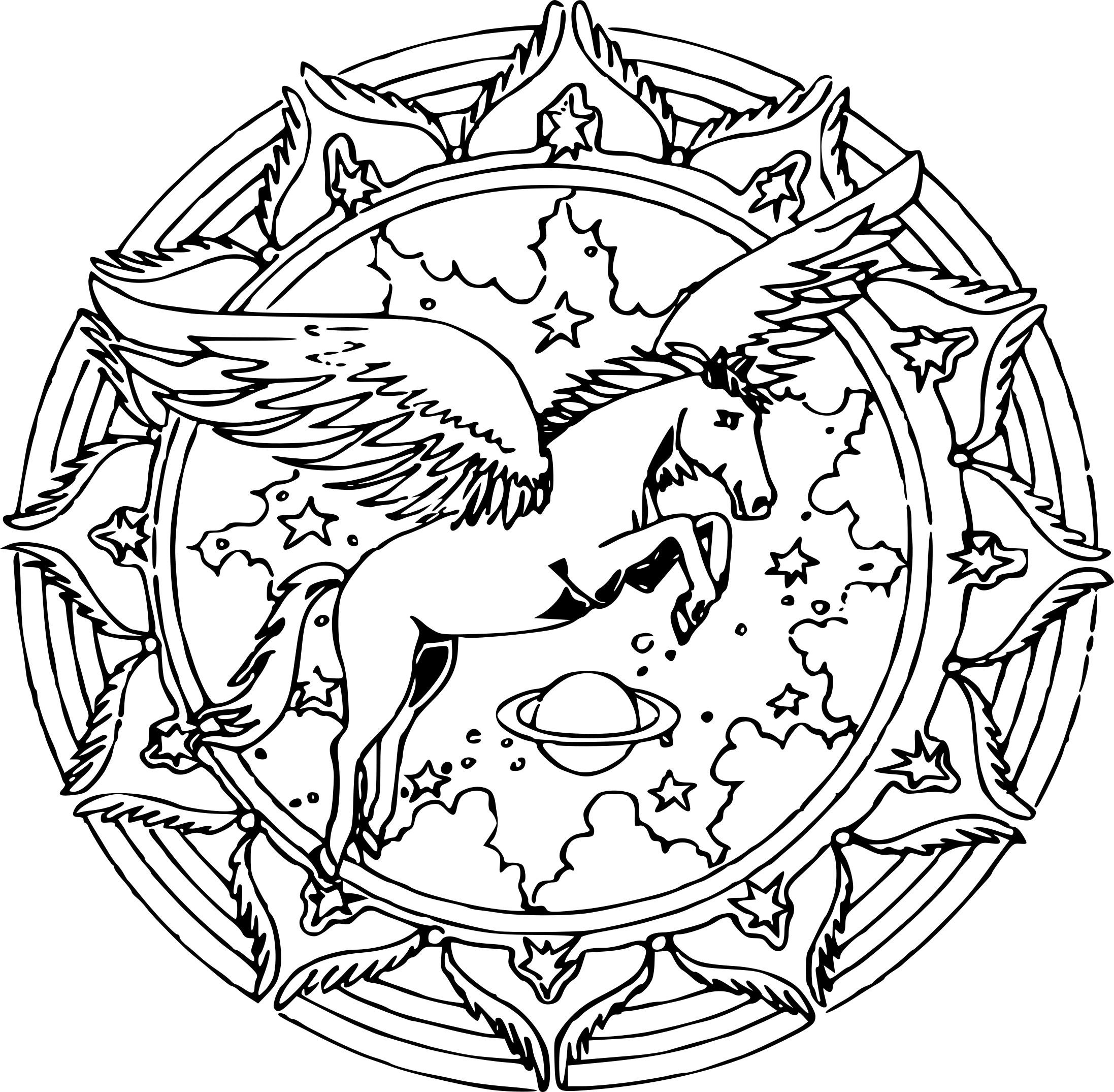 Coloriage Mandala Licorne À Imprimer Sur Coloriages à Coloriage Licorne A Imprimer