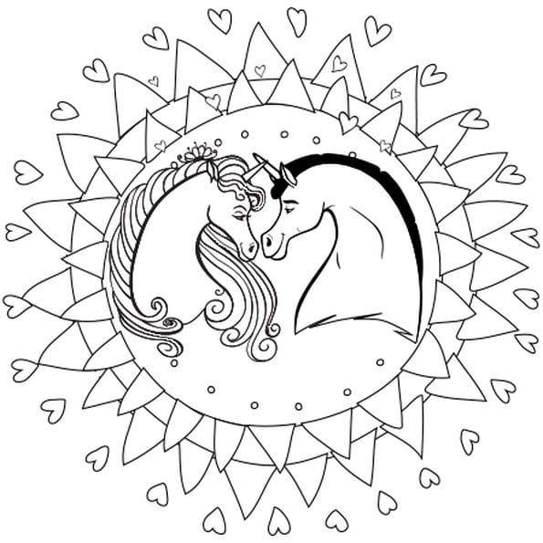 Coloriage Mandala Licorne En Ligne Gratuit À Imprimer tout Hugo L Escargot Coloriage En Ligne