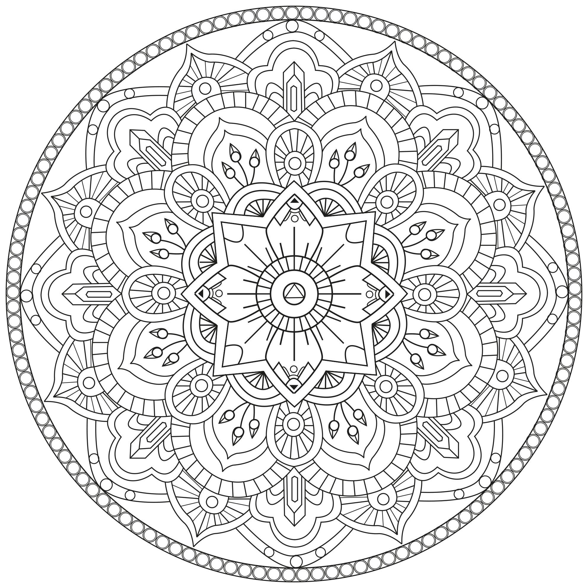 Coloriage Mandala | My Blog pour Coloriage Mandala A Imprimer