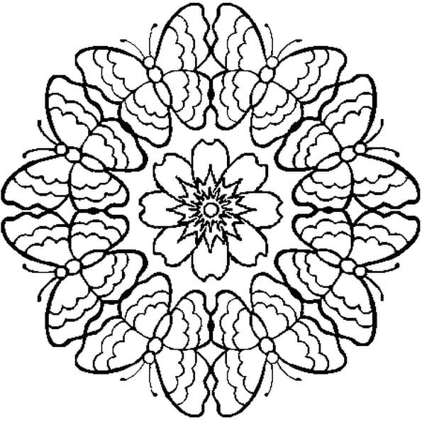 Coloriage Mandala Papillon En Ligne Gratuit À Imprimer pour Coloriage De Papillon A Imprimer Gratuit